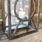 Natural Iron bars on the candle holder