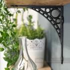 Ironbridge styled black powder coated shelf bracket