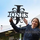 Scale of the Monogram Sign Displaying the Surname Jones