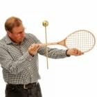 Grand Slam Tennis Racket and Ball Weathervane