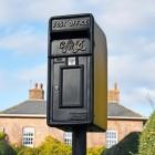 Cast King George Rex Black Period Post Box