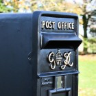 Gold Text on the Post Box