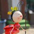Red Cartoon Style Lady Bird Garden Sculpture
