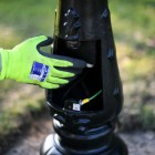 Black Gothic Lamp Post & Lantern Set 3.25m