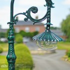 Lamp Post Luminaire With Gothic Inspired Mounting Bracket