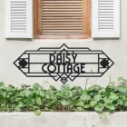 Large Art Deco Name Sign in Situ
