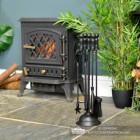 """Duchess"" Iron Fireside Companion Set in Situ"