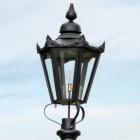 Large Black Hexagonal Lamp Post Top