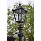 Black Victorian Lantern on Cast Iron Lamp Post