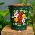 Large Narrowboat Hand Painted Bucket in a Hand Painted Finish