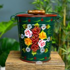 Green Narrowboat Hand Painted Bucket in Large