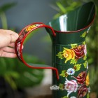 Handle of the Hand Painted Narrowboat Jug to Scale