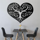 Tree Heart Wall Art in the Dining Room