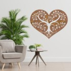 Rustic Tree Heart Wall Art in a Modern Home