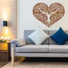 Rustic Tree Heart Wall Art in Situ in the Home
