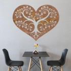 Rustic Tree Heart Wall Art in the Dining Room