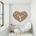 Rustic Tree Heart Wall Art in Situ in a Modern Sitting Room