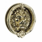 'Sandringham' Large Polished Brass Lion Knocker