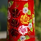 Close-up of the Rose Design on the Jug