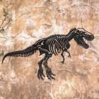 Large Black T-Rex Wall Art