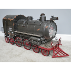 Steam Train Finished in a Rustic Green