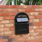 Grosvenor Telescopic Post and Parcel Box In Situ