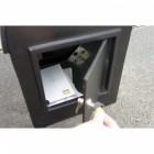 Grosvenor Telescopic Post and Parcel Box REar Opening Door
