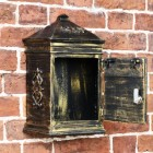 Lockable front door on antique finish post box