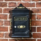 Black & Gold Bantock post box