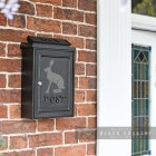 """Hare"" Wall Mounted Post Box in Situ by the Front Door"