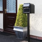 """Royal Farringdon"" Black Post Box Complete With Stand"