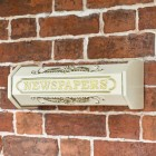 Times Past Victorian Cream styled newspaper box