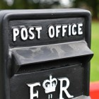 'Post Office' Embossed Text on the Front of the Post Box