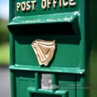 Irish Harp Post and Parcel Box With Column