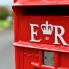 Wording E R on the Front of the Post Box Finished in White