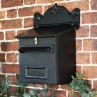 Black Goldhay Post & Parcel Box mounted on wall