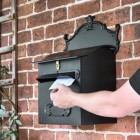 Black 'Espresso' Goldhay Post Box