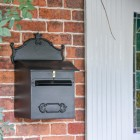 'Espresso' Black Goldhay Post and Parcel Box