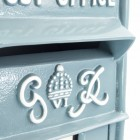 King George Rex Post Box Front - Blue