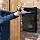 Wall mounted Berkley post box with newspaper holder
