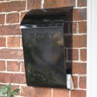 Black wall mounted contemporary newspaper & post box