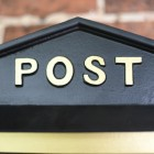 Wall mounted Post box detailing