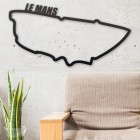 Le Mans Race Track Wall Art in Situ in the Home