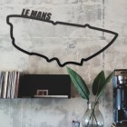 Le Mans Race Track Wall Art in situ in the Office