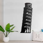 Leaning Tower of Pisa Steel Wall Art in a Modern Home