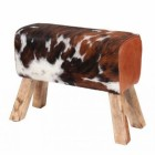 Horse Stool Created From Wood & Leather