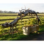 """Leaping Impala""  African Antelope Garden Sculpture"