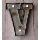 Letter V Wall Light