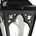 Black Gothic Lamp Post & Lantern Set 2.3m