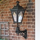 Traditional exterior porch light, Gothic style on royal bracket